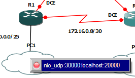 Image showing the creation of the link between R1 and PC1.