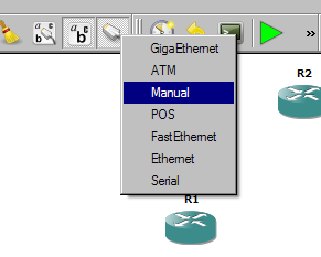 Image showing how to add a link between two devices in GNS3.