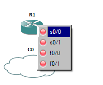 Image showing the selection of interface when creating a connection between devices in GNS3.