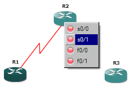 Image showing the selection of interface on the other device when creating a connection in GNS3.
